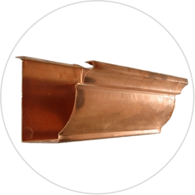 Copper Rain Gutter